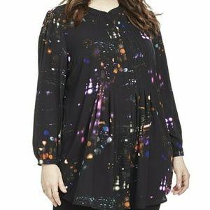 Melissa McCarthy Tunic Night Light blouse